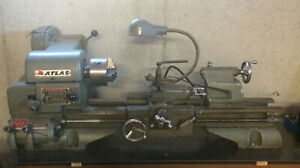 Metal Lathe Atlas Model 3980 12x24 With Tooling And Manual
