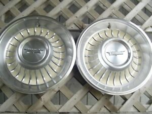 1961 1962 Cadillac Cady Fleetwood Deville Eldorado Hubcaps Wheel Covers Antique