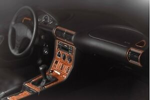 Bmw Z3 Series Interior Dash Trim Kit 3m 3d 20 Parts Burl Wood 1996 1999
