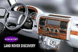 For Land Rover Discovery Interior Dash Trim Kit 3m 3d 30 parts Burl Wood 90 1999