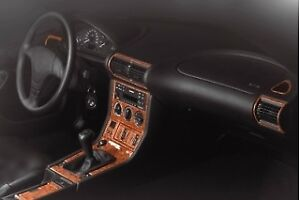 Bmw Z3 Series Interior Dash Trim Kit 3m 3d 20 Parts Burl Wood 1996 1999 Rhd
