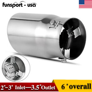 Diesel Exhaust Tip 2 2 5 3 inlet 6 Outlet Stainless Steel Bolt On Tail Pipe
