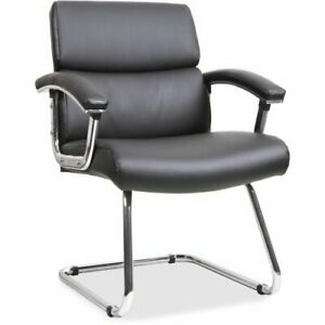 Lorell Sled Base Leather Guest Chair Upholstered 1 Each llr20019