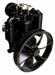 5 Hp Or 7 5 Hp Air Compressor Pump Two Stage 175 Psi Cast Iron 2 Cylinder Pump