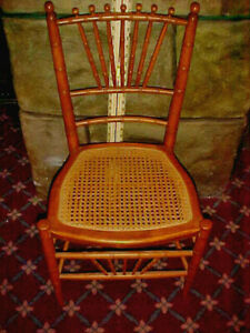 1 Vintage Rattan Cane Side Chair Height 32 X Width16 Depth Of Seat 14 Great