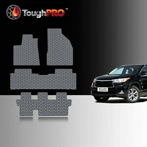 Toughpro Floor Mats 3rd Row Gray For Toyota Highlander Bench 2014 2019