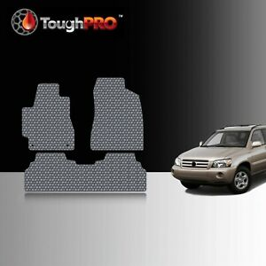 Toughpro Floor Mats Gray For Toyota Highlander All Weather Custom Fit 2004 2007