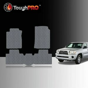 Toughpro Floor Mats Gray For Toyota Tacoma Access Cab All Weather 2005 2011