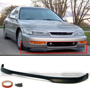 Fits 96 97 Honda Accord 2 4dr T r Style Front Bumper Lip Bodykit Lower Spoiler