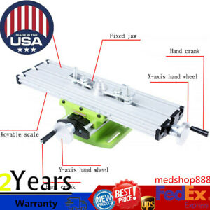 Cross Worktable Milling Working Slide Table X Y Axis Bench Vise Drill Machine Us