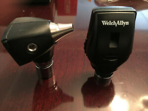 Welch Allyn Otoscope 25020 Ophthalmoscope 11720 Diagnostic Heads