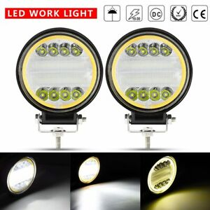 2x 5inch Round Led Work Lights Pod Combo Beam Offroad Driving Lamp Truck Suv 4