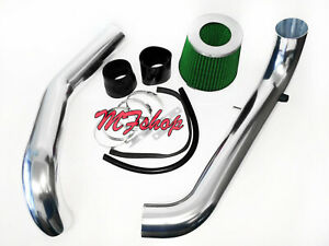 Black Green For 1996 2000 Honda Civic 1 6l L4 Cx Dx Lx Cold Air Intake System