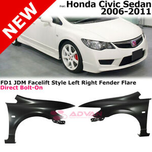 Jdm Fd1 Fenders For 06 11 Honda Civic Sedan With Jdm Front End Conversion Only