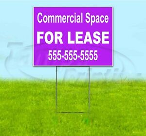 Commercial Space For Lease Custom Ph 18x24 Yard Sign With Stake Corrugated Usa