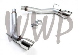 Stainless Steel Dual 3 Axle Back Exhaust Muffler Delete 10 15 Chevy Camaro 3 6l