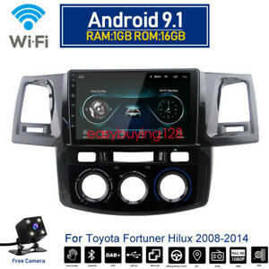 Android 9 1 Car Dvd Radio Wifi Gps Bt Player For Toyota Fortuner Hilux 2008 2014