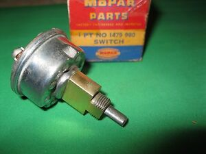 Nos Mopar 1953 1954 Dodge And Plymouth Windshield Wiper Switch Single Speed