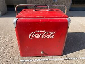 Vintage Drink Coca Cola Ice Chest/Cooler Progress Refrigerator Co. KY.