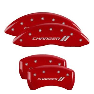 2016 Dodge Charger Se Red Mgp Disc Brake Caliper Covers Front Rear 12162sch1rd