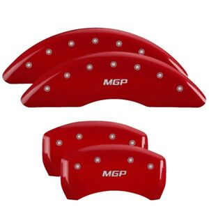 Fits 2011 Nissan Maxima Red Mgp Disc Brake Caliper Covers Front Rear 17112smgprd