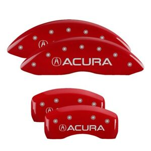 2007 Acura Tl Type S Red Mgp Disc Brake Caliper Covers Front Rear 39007sacurd