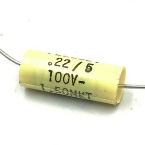 0 22uf 100v Axial Capacitor Plessey