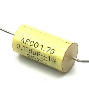 0 118uf 118nf 1 250v Axial Capacitor Arcotronics