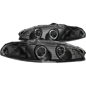 Anzo Projector Headlights Halo Black G2 Fits 97 99 Mitsubishi Eclipse 121365