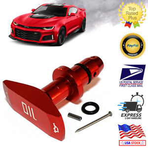 Universal Red Billet Aluminum Oil Dipstick Handle Chevy Ford Dodge Jeep V8
