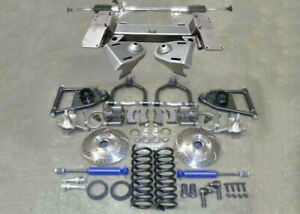 1949 1954 Chevy Car Mustang Ii Bolt On Front Suspension Kit Manual Stock Slotted