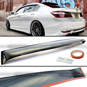 Fit 13 17 Honda Accord 9th Gen 4 Dr Jdm Rear Window Roof Vent Visor Spoiler Wing