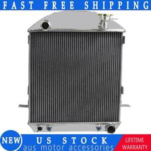 3 Row Aluminum Radiator For 1924 1927 Ford Model T Bucket Chevy Engine