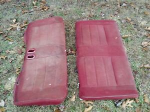 1990 91 92 93 Mustang Convertible Rear Seat Back Top And Bottom Foam