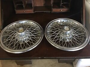 2 Vintage Chevy Caprice Hubcaps