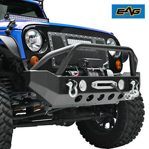 Eag Rock Crawler Front Bumper With Fog Light Hole Fit For 07 18 Jeep Wrangler Jk