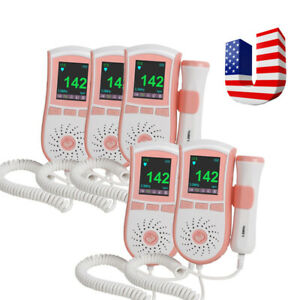 5 fetal Doppler Prenatal Baby Heart Waveform Monitor 3m Probe W alarm Fda Ce Ups
