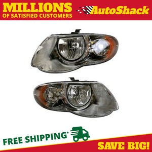 Head Light Assembly Pair For 2005 2006 2007 Chrysler Town Country