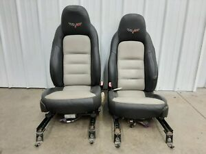 2005 2013 Oem Corvette C6 Front Black tan Leather Power Seats U72