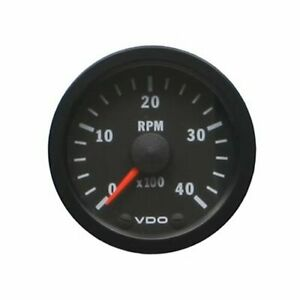 Vdo Vision Series Tachometer 0 4 000 2 1 16 Dia In Dash Black Face 333156