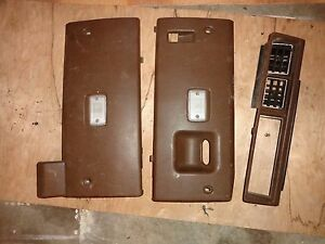 Nissan Datsun 280zx Oem Brown Center Ac Vent Console 79 83 Under Dash Trim Set