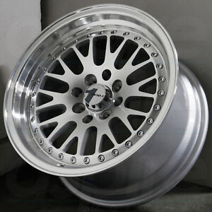 16x8 Silver Machined Wheel Avid1 Av12 Av 12 4x100 4x114 3 25 1