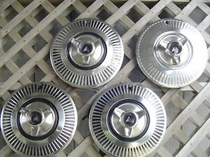 Vintage Classic 1963 1964 Plymouth Valient Spinner Hubcaps Wheelcovers