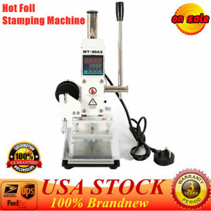Wt 90as Manual Digital Leather Logo Stamp Hot Foil Stamping Machine 80x100mm