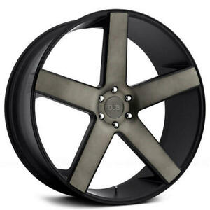 4 28 Dub Wheels Baller S116 Black With Machined Face Dark Tint Rims b1
