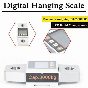 3000kg 3t Crane Scale High Precision Weighing Scale Digital Hanging Scale