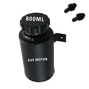 800ml Aluminum Radiator Coolant Overflow Tank Reservoir Expansion Bottle Black