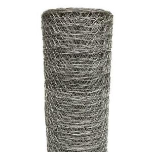 Poultry Netting Chicken Wire Fence Outdoor Fencing Garden 1 Inch X 3 X 50 Ft Net