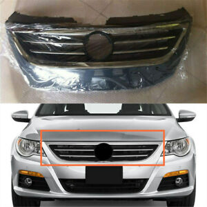 Front Center Upper Grille Cover Mesh Vent Radiator Grill Fit For Vw Cc 2009 2012