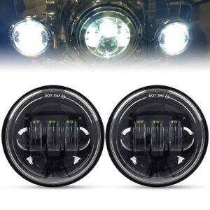 Dot 4 5inch 60w Led Fog Lights Auxiliary Spot Driving Passing Lamps Motorcycles